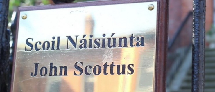 John Scottus School Sign